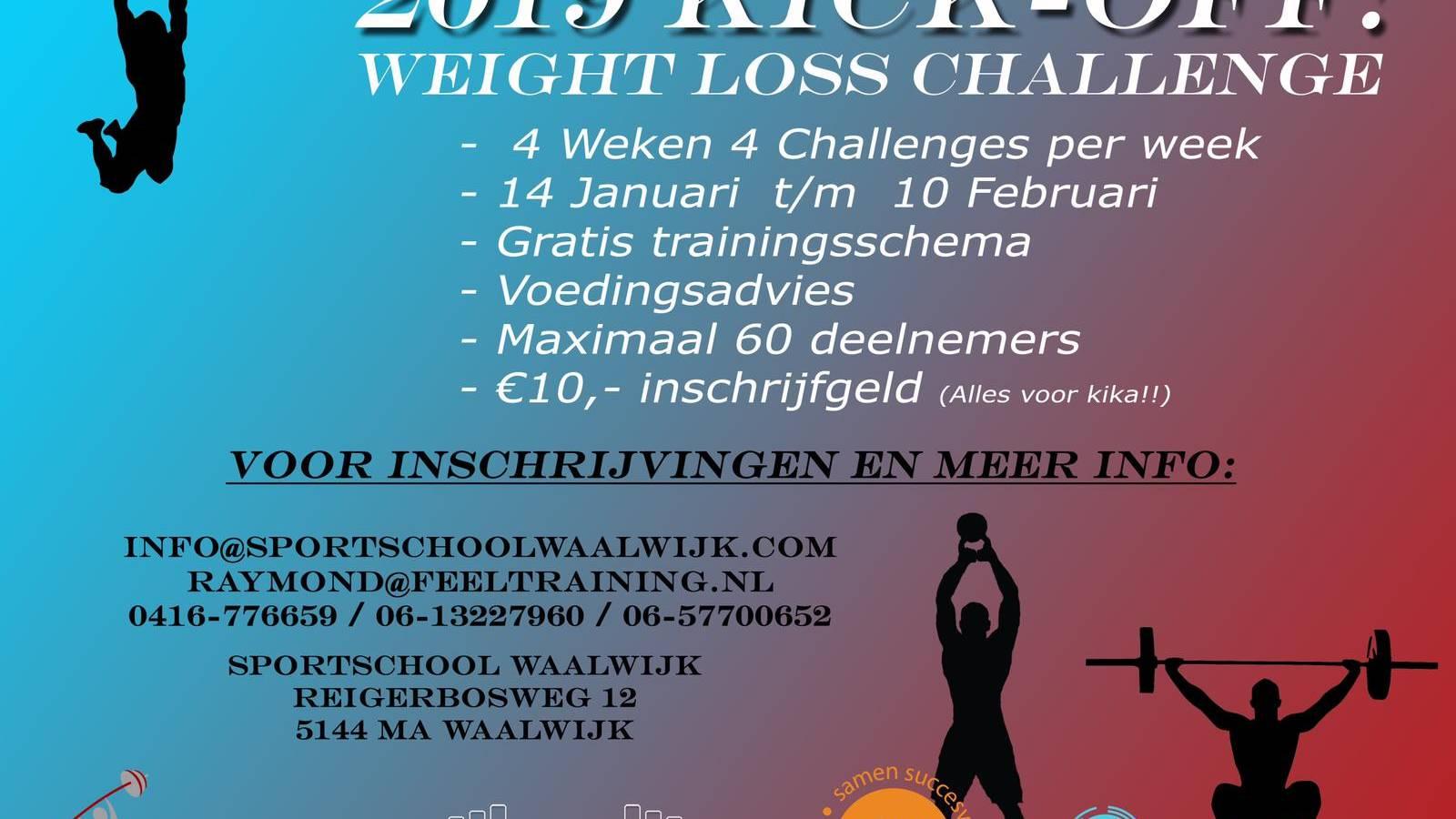 Kickoff 2019, Weight Loss Challenge – Actie voor KiKa: Help je mee?